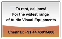 To rent Audio visual equipment, call us!